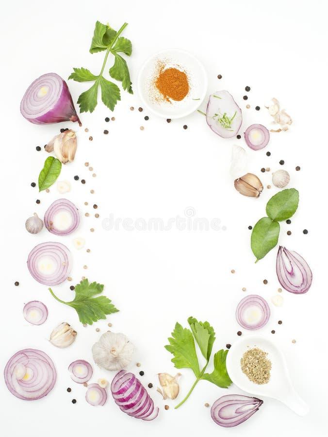 Isolato dell'alimento dei miscelatori delle spezie su fondo bianco immagine stock libera da diritti