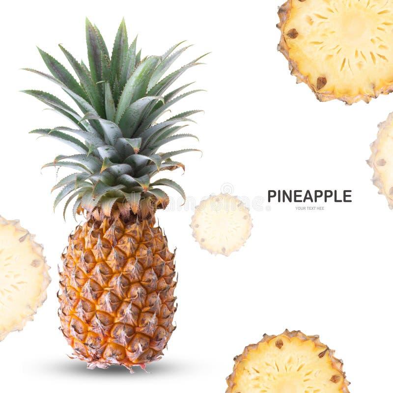 Isolato dell'ananas su fondo bianco immagine stock