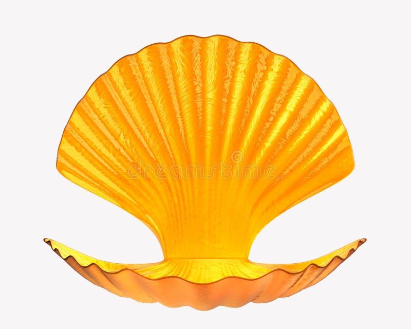 Isolato della perla di Shell 3d rendono illustrazione di stock
