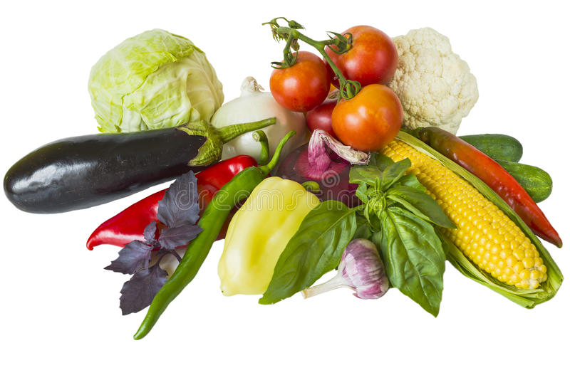 Isolato delle verdure fotografia stock libera da diritti