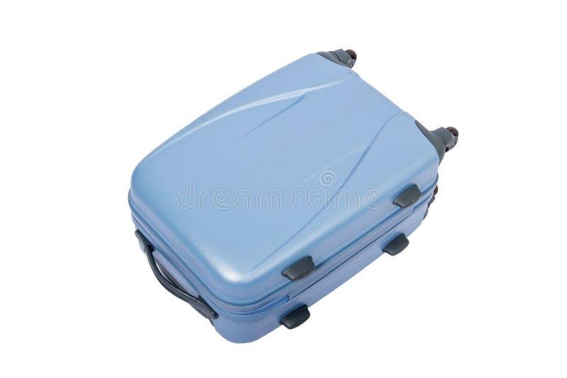 isolato di grande borsa blu di viaggio fotografie stock