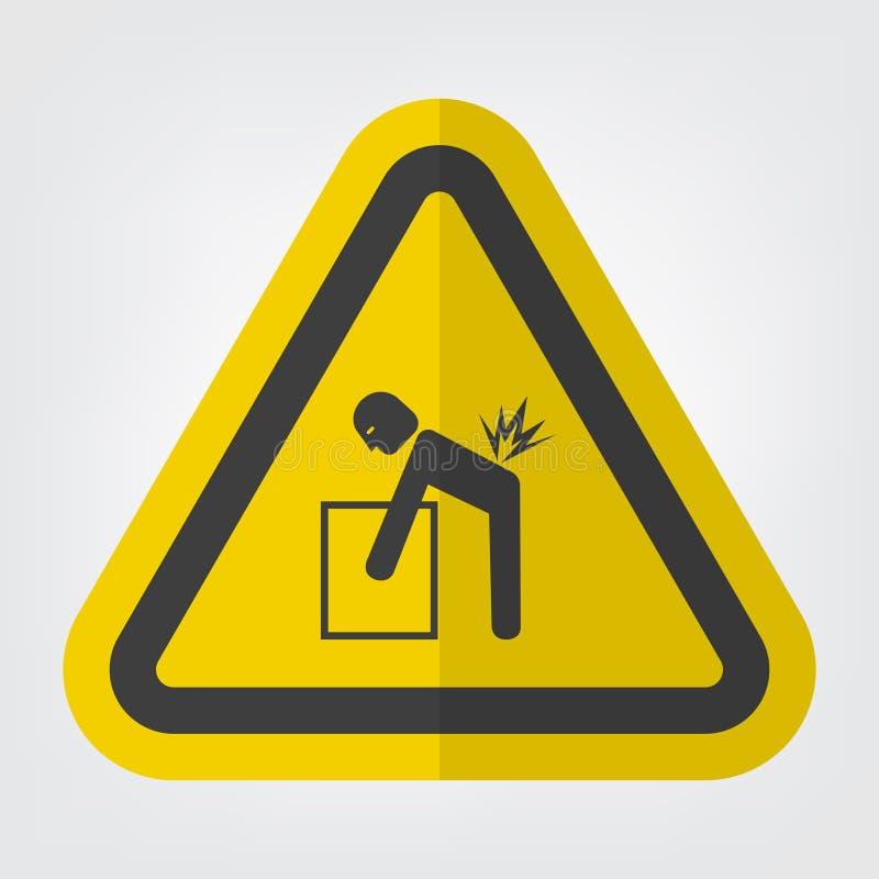 Isolato di sollevamento del segno di simbolo di rischio su fondo bianco, illustrazione ENV di vettore 10 royalty illustrazione gratis