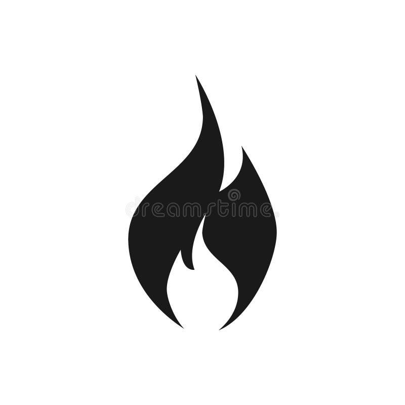 Isolato di vettore dell'icona della fiamma del fuoco su fondo bianco per il vostro web design, logo, UI Illustrazione illustrazione di stock