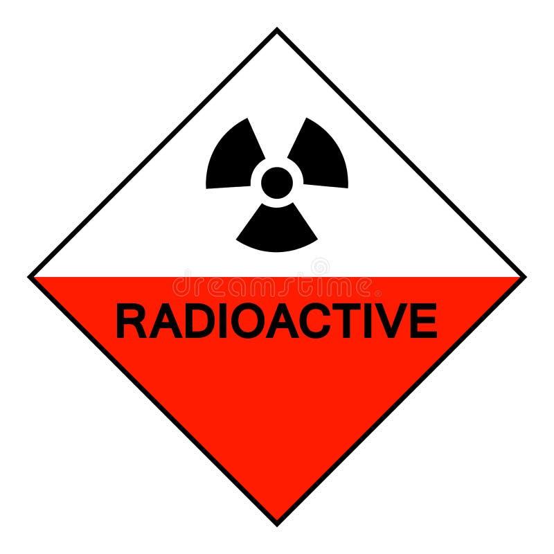 Isolato radioattivo del segno di simbolo su fondo bianco, illustrazione ENV di vettore 10 royalty illustrazione gratis