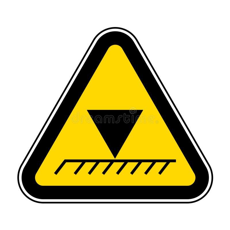 Isolato sopraelevato del segno di simbolo di altezza di limite su fondo bianco, illustrazione ENV di vettore 10 illustrazione vettoriale