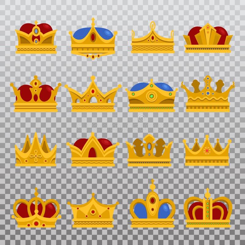 Isolato stabilito della corona reale di principe o di re, diadema di papa royalty illustrazione gratis