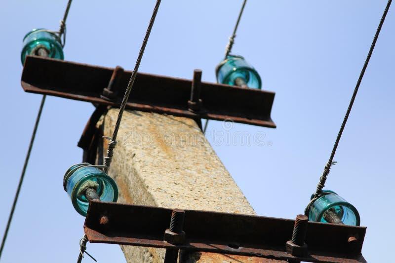 Isolatorer på elektriskt motstånd royaltyfri foto