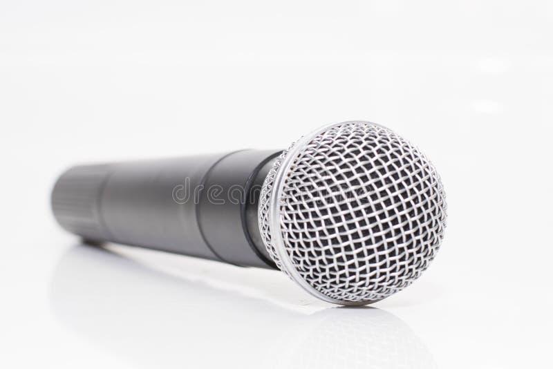 Isolatradioapparatmikrofon stockbild