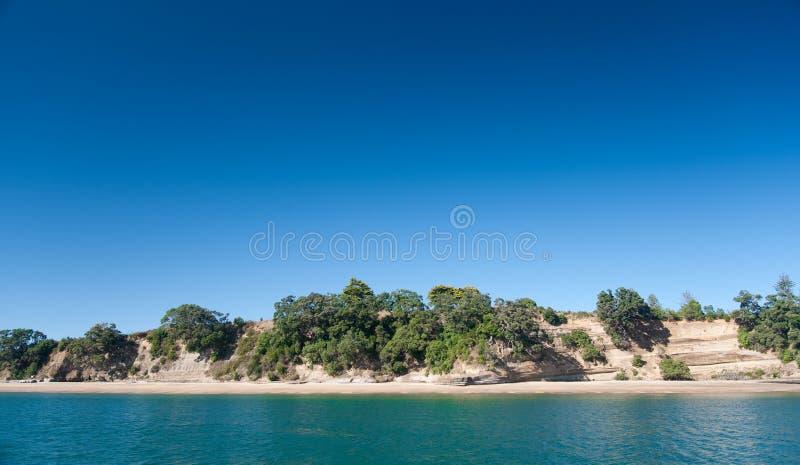 Isole del golfo di Hauraki fotografie stock