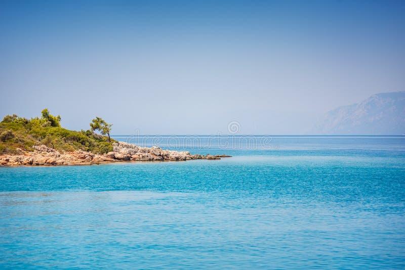 Isole del mar Egeo vicino a Marmaris fotografia stock libera da diritti