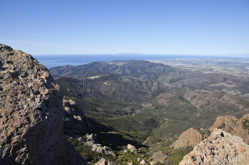 Isole del picco e della Manica di Mugu del punto in California fotografia stock