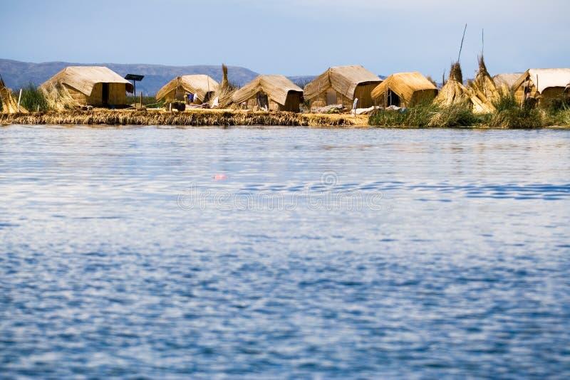 Isole di galleggiamento di Uros, Perù immagine stock libera da diritti