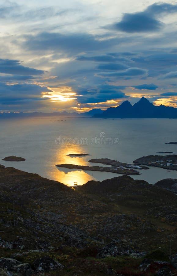 Isole di Lofoten di bella vista immagine stock