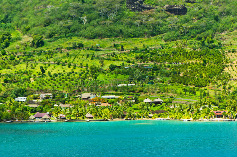 Isole di Moorea, la baia del cuoco, Polinesia francese fotografia stock