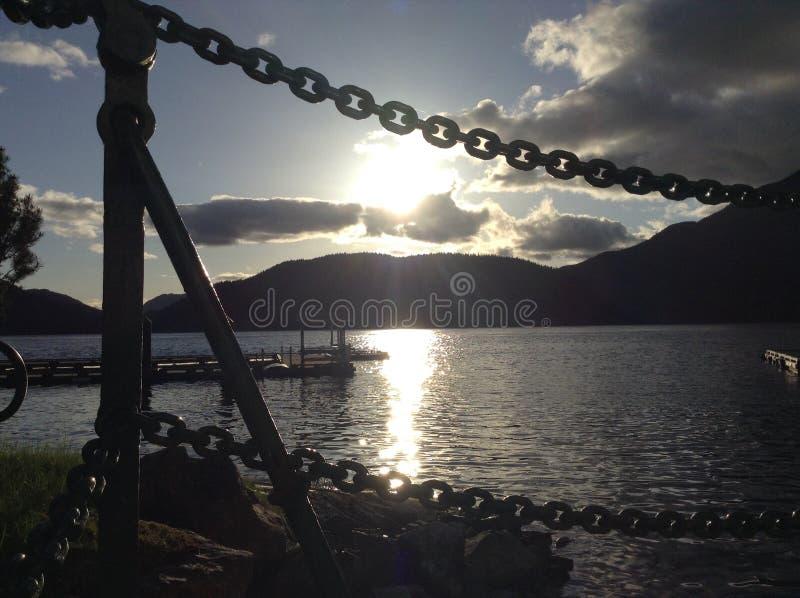 Isole di Stuart del golfo della sonora di pesca del chalet immagine stock libera da diritti