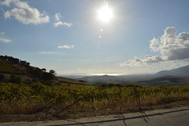 Isole Egadi da Valderice, sullo sfondo Favignana e Levanzo. stock photo
