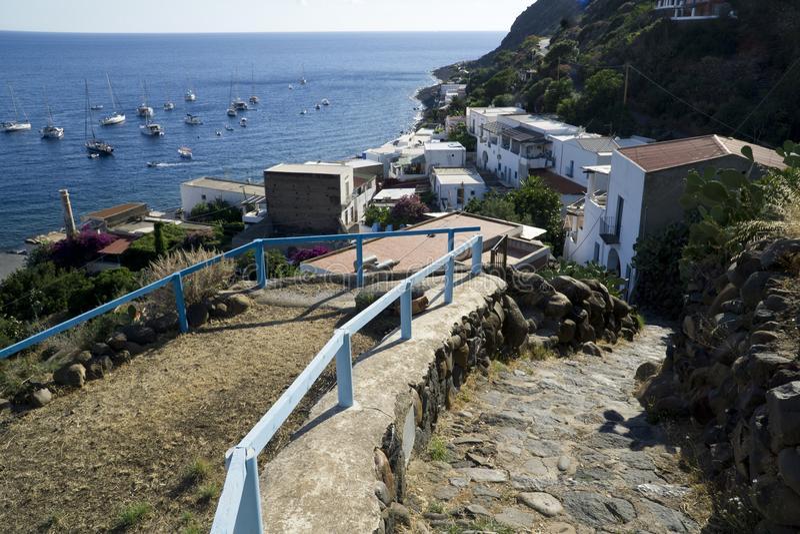 Isole eolie dell'Italia Sicilia, isola di Alicudi fotografie stock libere da diritti