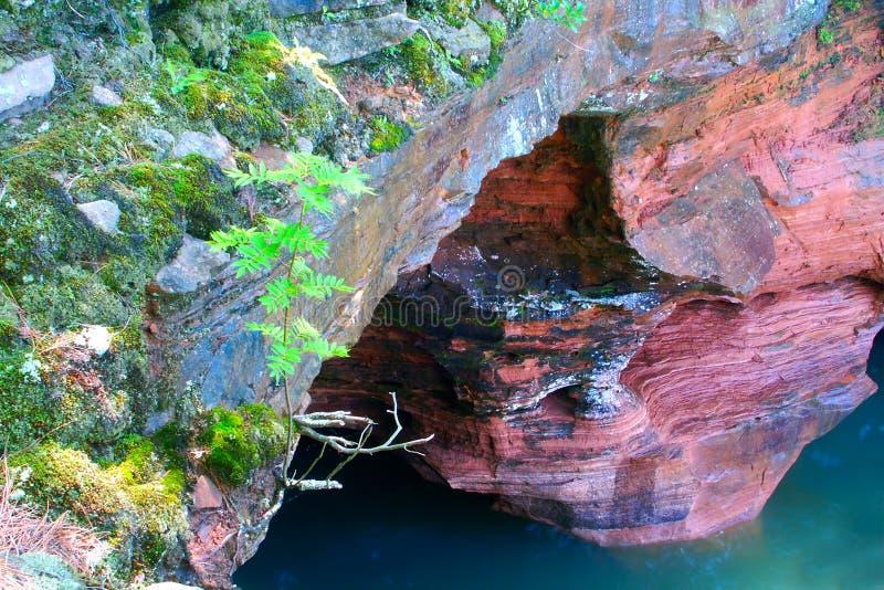 Isole Lakeshore Wisconsin dell'apostolo fotografia stock