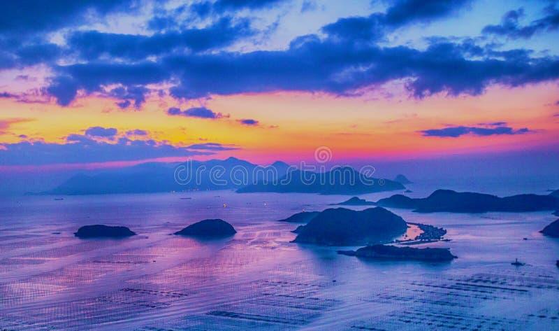 Isole prima di alba immagini stock libere da diritti