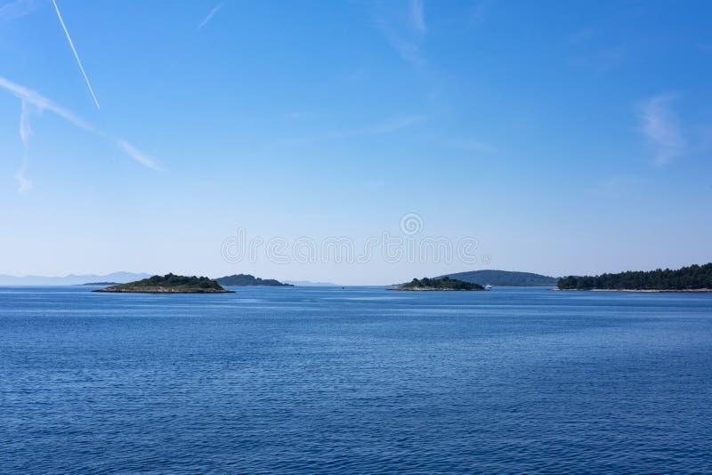 Isole vicino a Korcula, Dalmazia fotografia stock
