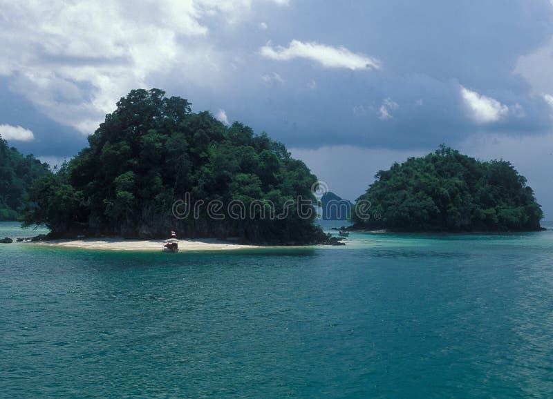 Isole vicino a Krabi in Tailandia immagine stock