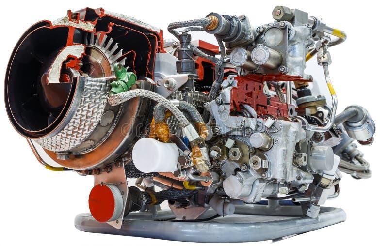 Isoleer Binnenmening van een echte modelturbine rotor royalty-vrije stock fotografie