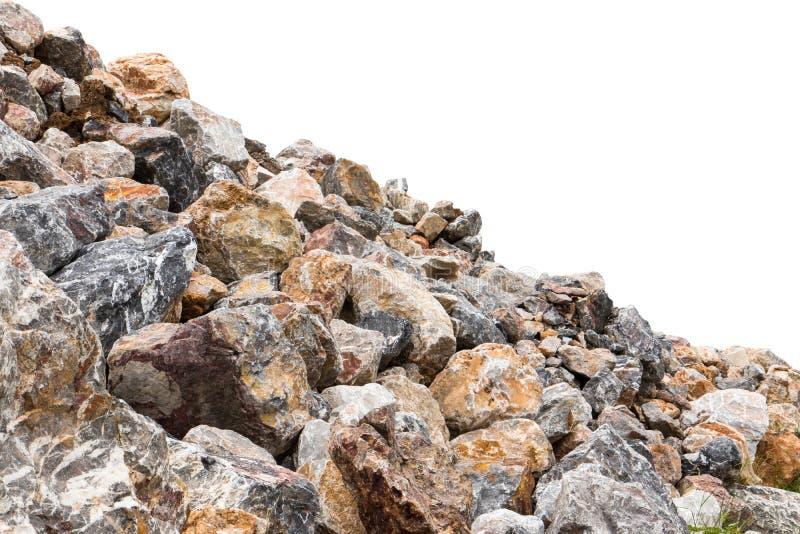Isoleer een deel van granietstapel royalty-vrije stock afbeelding