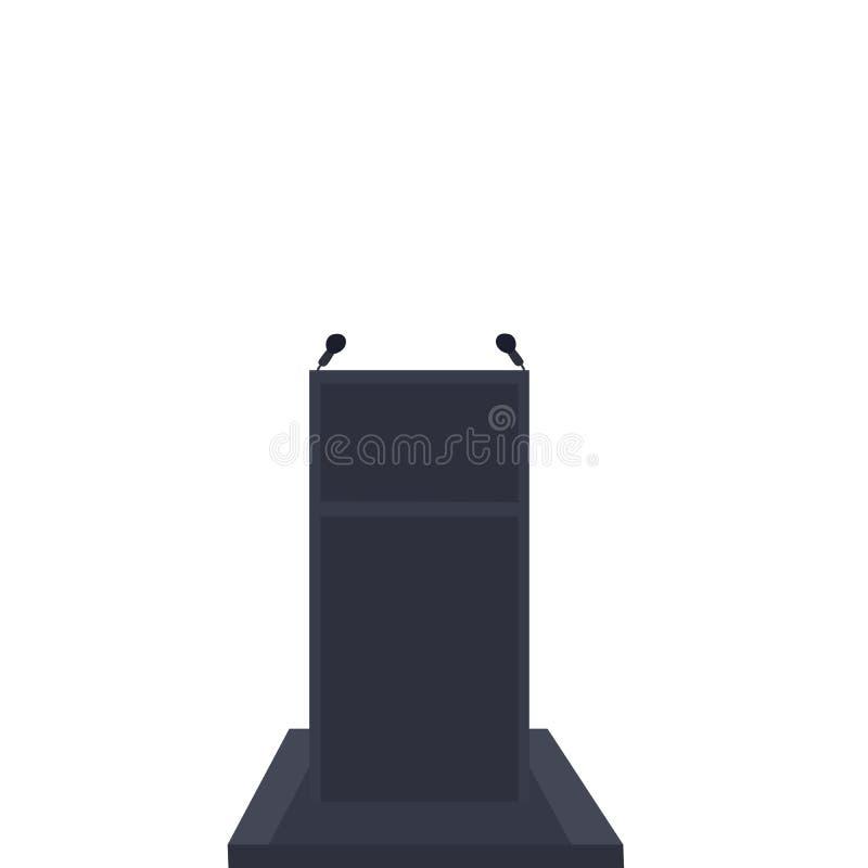 Isoleer podium of preekstoel op witte achtergrond vector illustratie