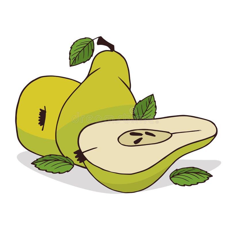 Isoleer rijp perenfruit vector illustratie