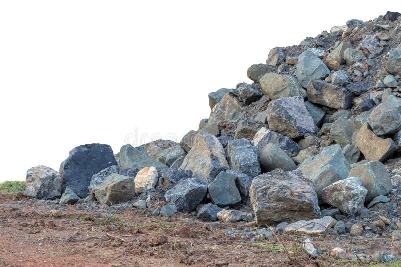 Isoleer stapels ter plaatse van graniet royalty-vrije stock afbeeldingen