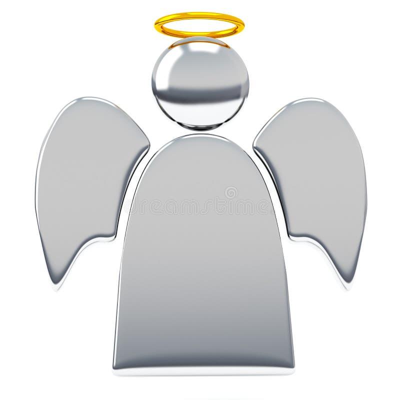 Isoleerde de engelen 3d illustratie witte achtergrond royalty-vrije stock afbeeldingen