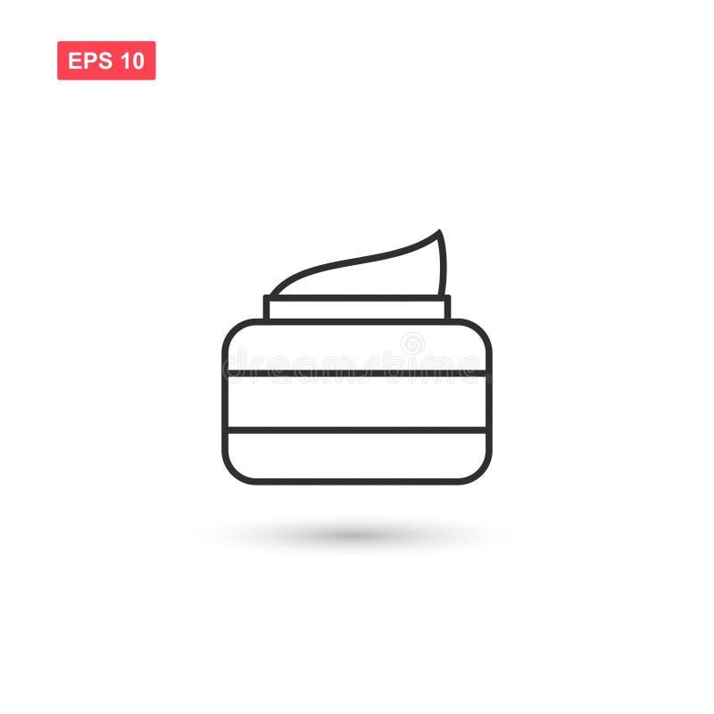 Isoleerde het het pictogram vectorontwerp van de haarroom 4 royalty-vrije illustratie