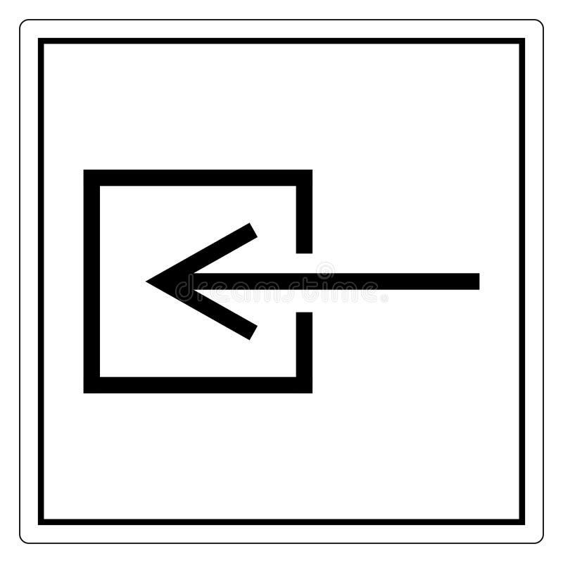 Isoleert het Niet-elektrische het Symboolteken van de inputingang, Vectorillustratie, op Wit Etiket Als achtergrond EPS10 vector illustratie