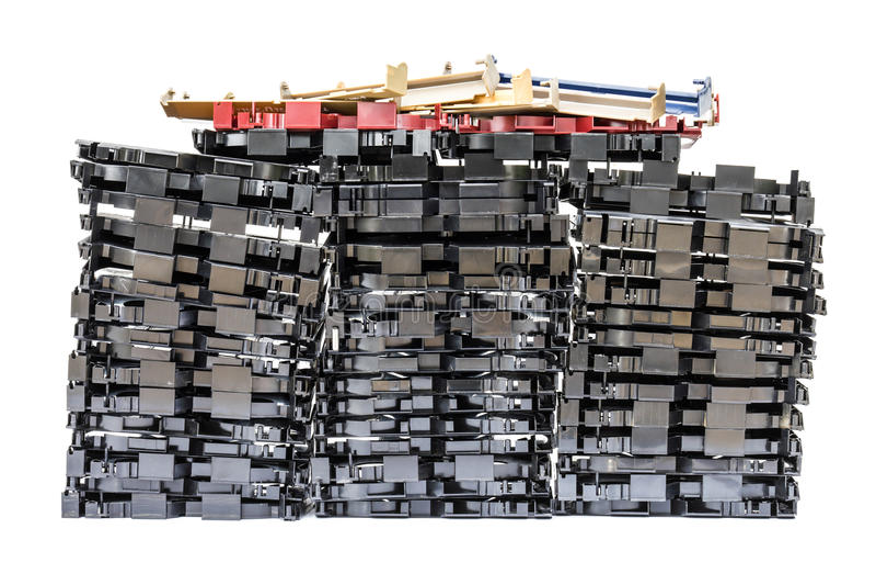 Isoleert van VHS videocassette stock foto's