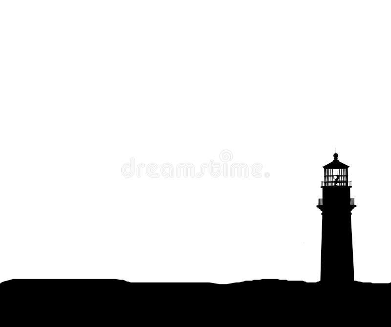 Isolement de silhouette de phare illustration libre de droits