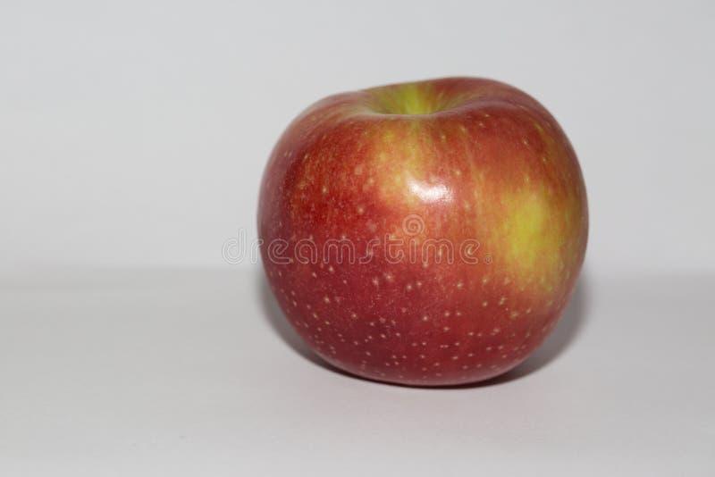 Isolerad äpplefrukt på den vita bakgrundssidosikten royaltyfri fotografi
