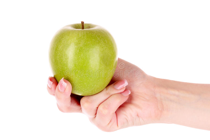 Download Isolerad äpplehand fotografering för bildbyråer. Bild av livsstil - 19786751