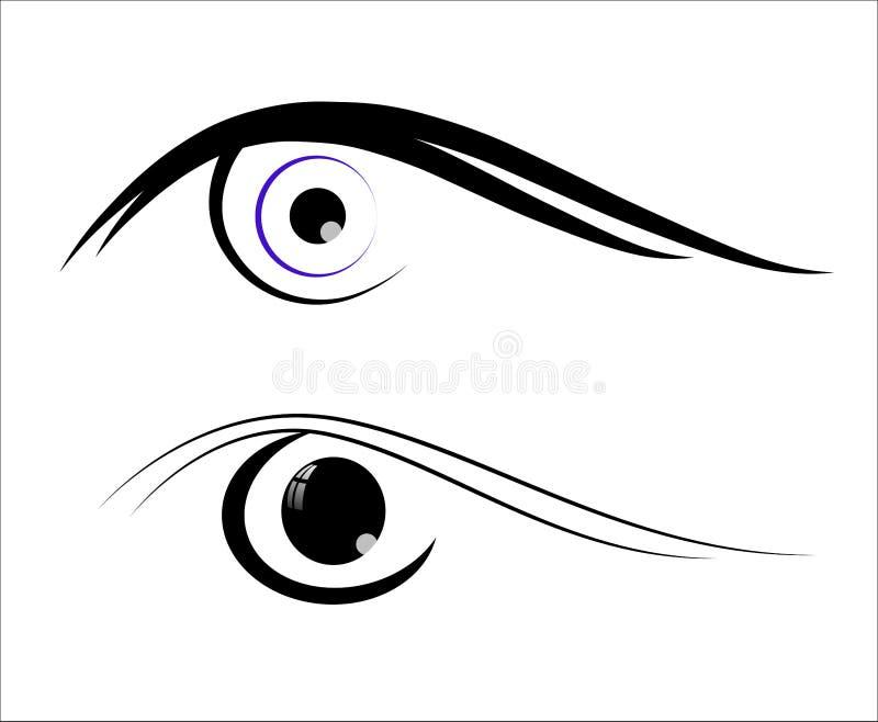 Isolerad ögonsymbol royaltyfri illustrationer