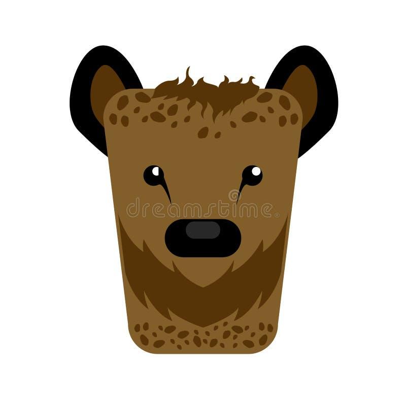 Isolerad abstrakt hyena royaltyfri illustrationer