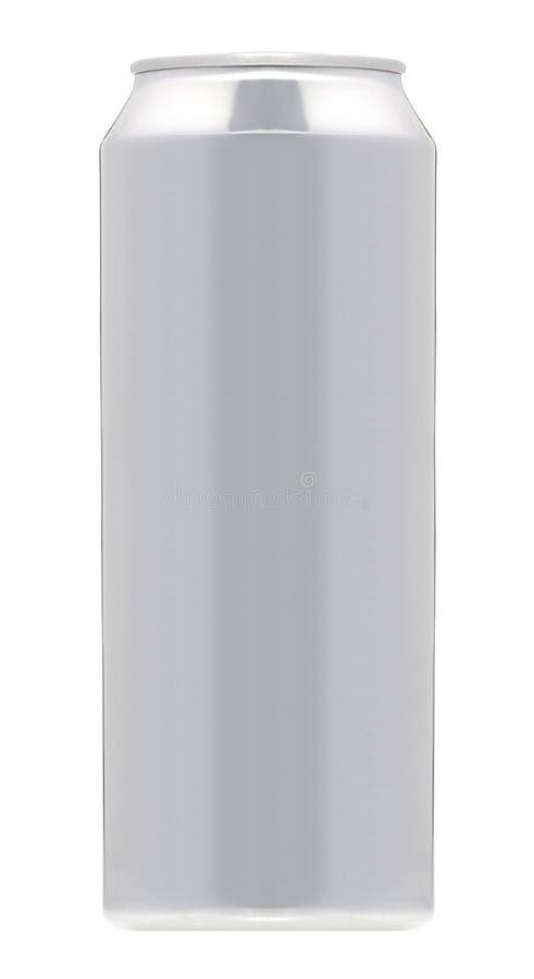 Isolerad Aluminum can för dryckdrinksodavatten fotografering för bildbyråer