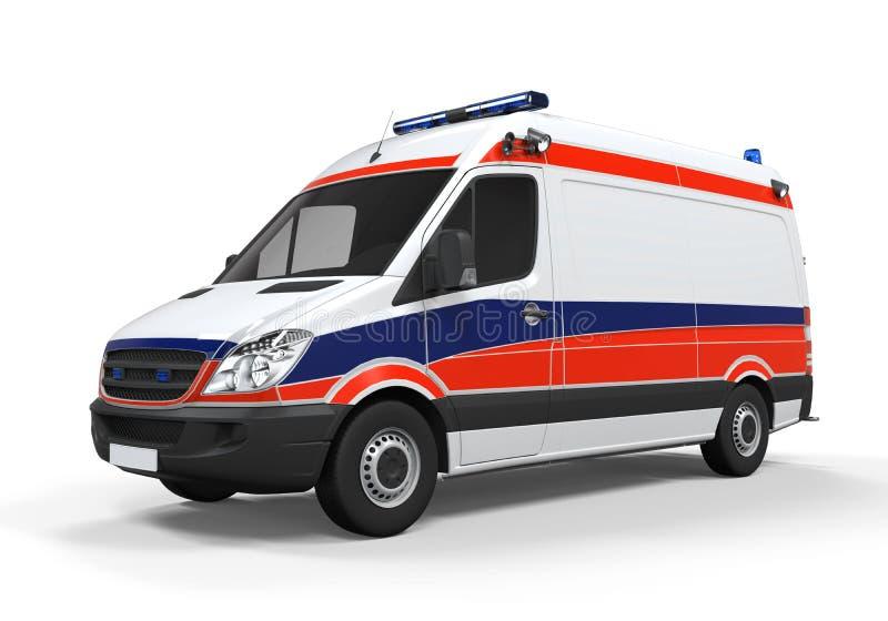 Isolerad ambulans royaltyfri illustrationer