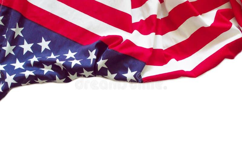 Isolerad amerikanska flaggangräns arkivbild