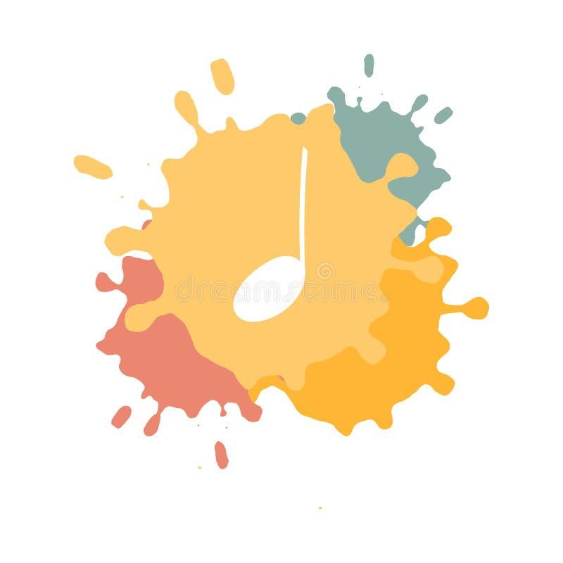 Isolerad anmärkning för klottermusiksymbol royaltyfri illustrationer
