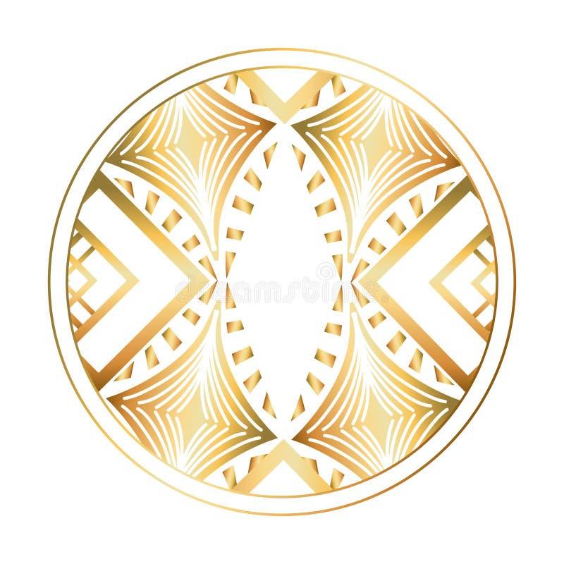 Isolerad art décocirkeldesign royaltyfri illustrationer