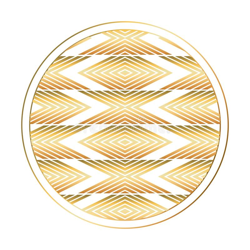 Isolerad art décocirkeldesign vektor illustrationer