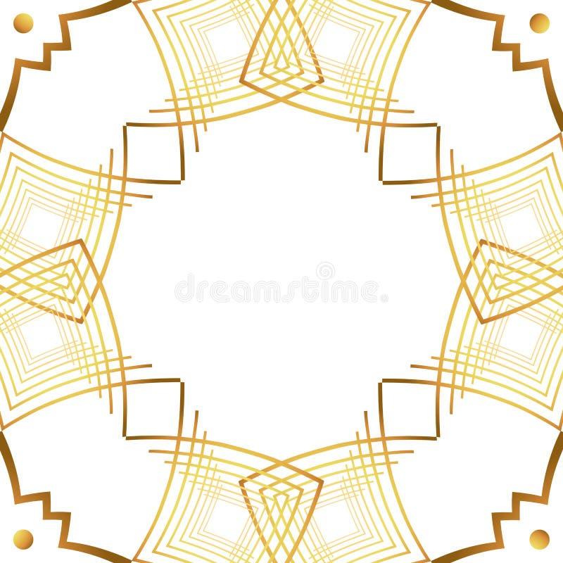 Isolerad art décoramdesign stock illustrationer