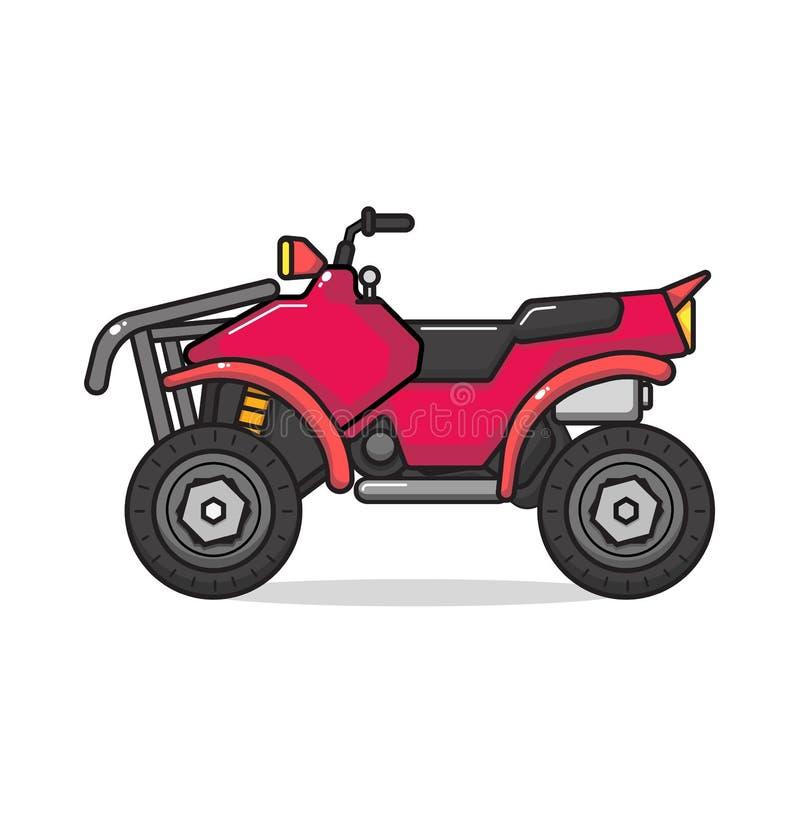 Isolerad ATV-motorcykel Illustration f?r vektorl?genhetstil royaltyfri illustrationer