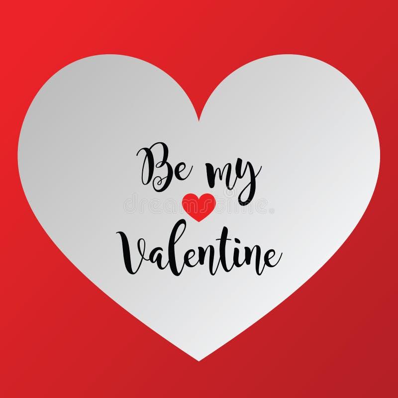 Isolerad bakgrund för valentinförälskelse hjärta vektor illustrationer