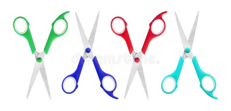 isolerad bakgrund scissors white arkivbilder