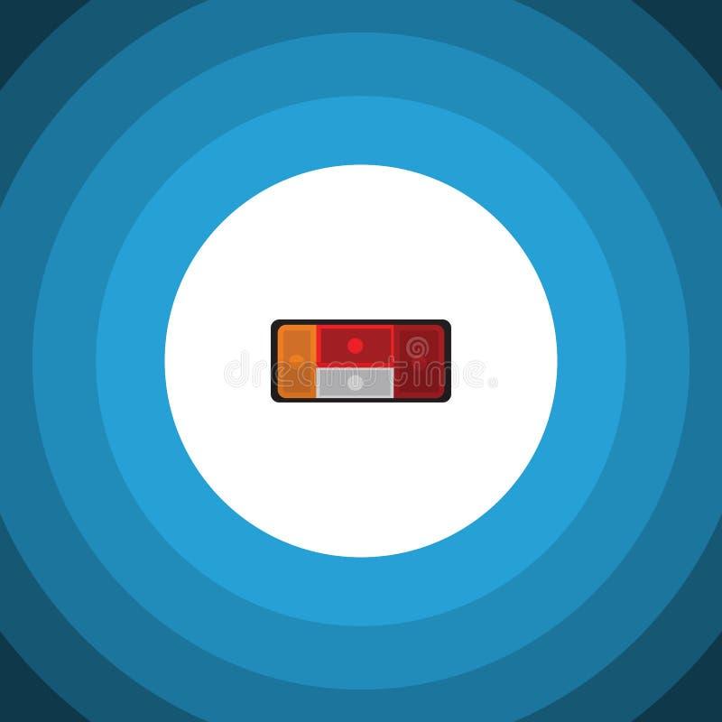 Isolerad baklyktalägenhetsymbol Billyktavektorbeståndsdelen kan användas för bilen, baklyktan, billyktadesignbegrepp stock illustrationer
